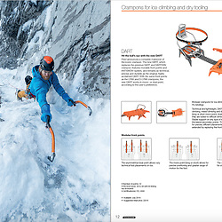 Petzl new Dart Crampons marketing. Shot the marketing for the new Darts, this shot is of Maarten Van Haeren on the route Big Brother, high above the town of Canmore