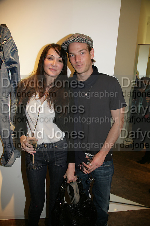 ANNABEL NEILSON AND SEAN BROSNAN, Gas new concept Flagship store opening. Duke of York Sq. London. 9 May 2007.  -DO NOT ARCHIVE-© Copyright Photograph by Dafydd Jones. 248 Clapham Rd. London SW9 0PZ. Tel 0207 820 0771. www.dafjones.com.