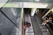 In Den Haag parkeren fietsers hun fiets in de gratis fietsenstalling onder het stadhuis.<br /> <br /> In The Hague cyclists park their bike in the bicycle parking under the city hall.