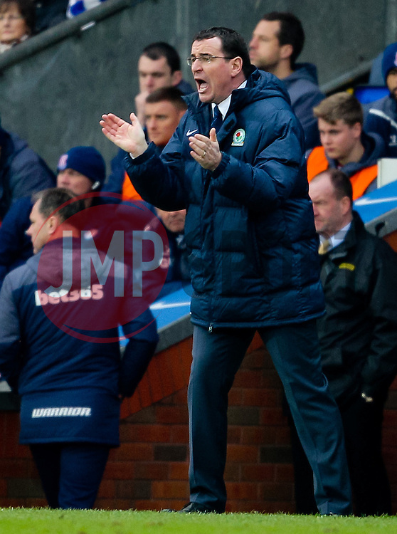 Gary Bowyer, Manager of Blackburn Rovers -  Photo mandatory by-line: Matt McNulty/JMP - Mobile: 07966 386802 - 14/02/2015 - SPORT - Football - Blackburn - Ewood Park - Blackburn Rovers v Stoke City - FA Cup - Fifth Round