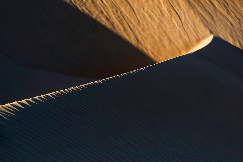 Abstract sand dunes at Lac Naila, Morocco.