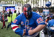 May 20, 2015 - New York, NY. John Sheckter enjoys the pre-game festivities at Bryant Park, prior to the beginning of Game 3 of Rangers VS Tampa. Photograph by Anthony Kane/NYCity Photo Wire