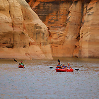 Kayaking in the Antelope Canyon section of Lake Powell...a slow ride thru paradise.