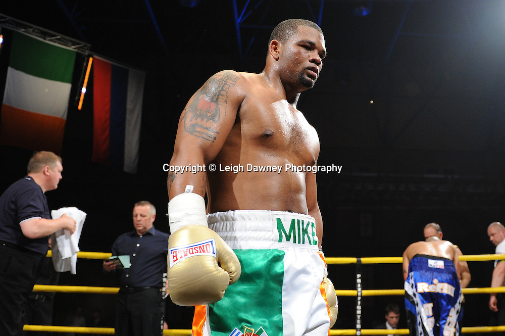 Mike Perez pictured after defeating Gregory Tony in Semi Final 1 at Prizefighter International on Saturday 7th May 2011. Prizefighter / Matchroom. Photo credit © Leigh Dawney. Alexandra Palace, London.