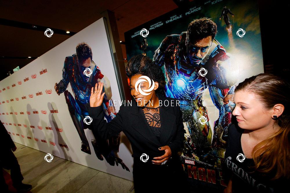AMSTERDAM - In het Rai theater is de filmpremiere van Iron Man 3. Met op de foto  Leona Philippo. FOTO LEVIN DEN BOER - PERSFOTO.NU