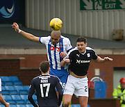 Kilmarnock&rsquo;s Josh Magennis and Dundee&rsquo;s Darren O&rsquo;Dea  - Kilmarnock v Dundee, Ladbrokes Premiership at Rugby Park<br /> <br />  - &copy; David Young - www.davidyoungphoto.co.uk - email: davidyoungphoto@gmail.com