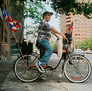 Man on his schwinn bike, USA