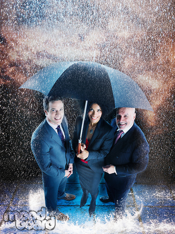 Businesspeople in the Rain