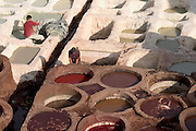 Leather tanneries, imperial city of Fez, Morocco