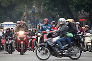 Traffic in Hanoi, Vietnam on Jan 10, 2013..(Photo by Kuni Takahashi)