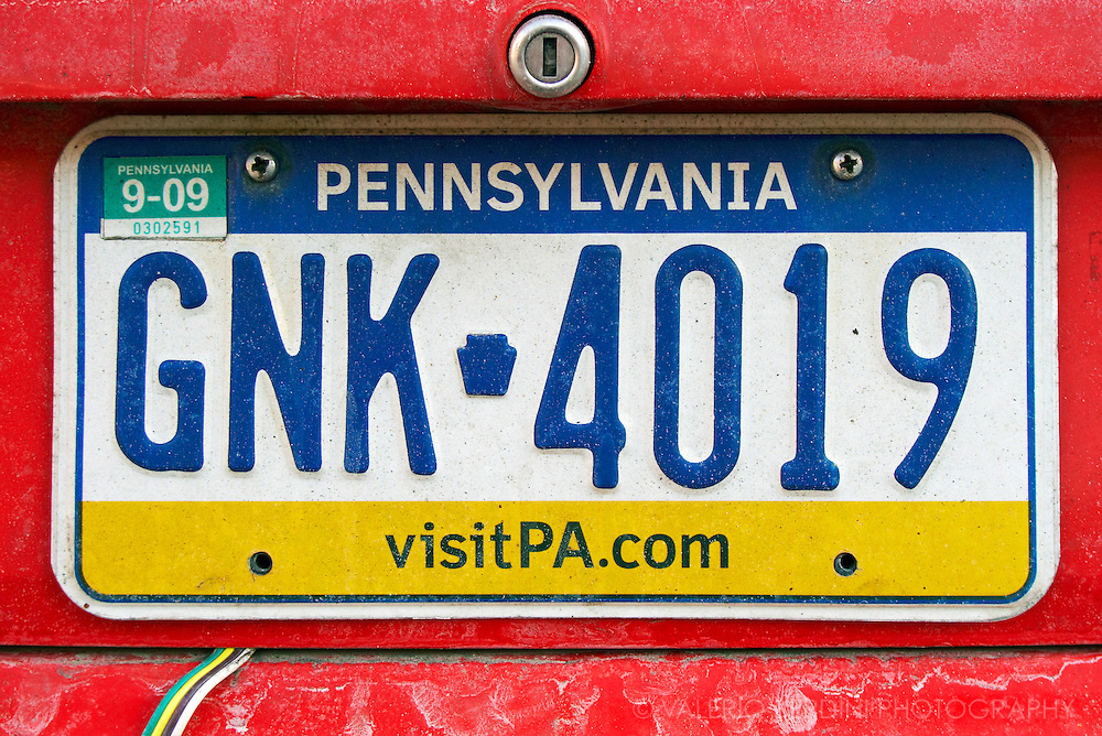 Pennsylvania car plate