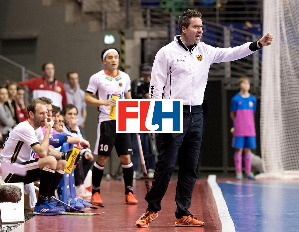 BERLIN - Indoor Hockey World Cup<br /> Men: Germany -  Trinidad &amp; Tobago<br /> foto: Christopher R&uuml;hr.<br /> WORLDSPORTPICS COPYRIGHT FRANK UIJLENBROEK