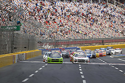 May 26, 2018 - Concord, North Carolina, United States of America - Brad Keselowski (22) and Cole Custer (00) lead the field to the green flag to start the Alsco 300 at Charlotte Motor Speedway in Concord, North Carolina. (Credit Image: © Chris Owens Asp Inc/ASP via ZUMA Wire)
