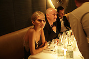 Diana Kamalova, Natalia Vodianova and Elle Macpherson host a dinner in honor of Francisco Costa (creative Director for women) and Italo Zucchelli (creative director for men)  of Calvin Klein. Locanda Locatelli, 8 Seymour St. London W1. ONE TIME USE ONLY - DO NOT ARCHIVE  © Copyright Photograph by Dafydd Jones 66 Stockwell Park Rd. London SW9 0DA Tel 020 7733 0108 www.dafjones.com