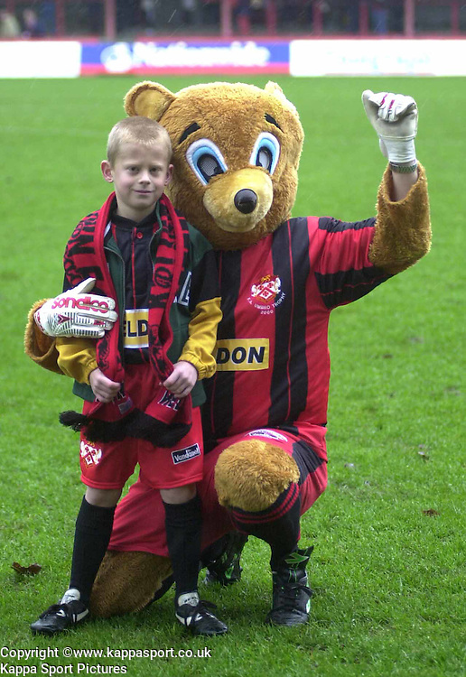 MASCOT WITH ROCKY Kettering Town v Northwich Victoria, Rockingham Road, 11th November 2000