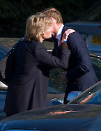 "PRINCE WILLIAM IS GREETED BY AUNT LADY SARAH McCORQUODALE.on arrival for the funeral of his nanny Olga Powell, who died recently at the age of 82-years old. The service was held at Parndon Wood Crematorium, Harlow, Essex.Princess Diana's sisters Lady Jane Fellowes and Lady sarah McCorquodale were also present. 10/10/2012.Mandatory credit photo: ©Dias/NEWSPIX INTERNATIONAL..(Failure to credit will incur a surcharge of 100% of reproduction fees)..                **ALL FEES PAYABLE TO: ""NEWSPIX INTERNATIONAL""**..IMMEDIATE CONFIRMATION OF USAGE REQUIRED:.DiasImages, 31a Chinnery Hill, Bishop's Stortford, ENGLAND CM23 3PS.Tel:+441279 324672  ; Fax: +441279656877.Mobile:  07775681153.e-mail: info@newspixinternational.co.uk"