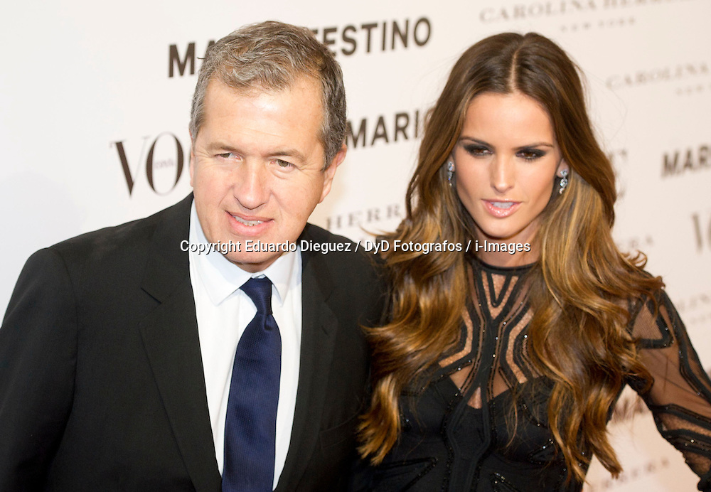Mario Testino with Izabel Goulart during the Vogue and Mario Testino December Issue launch, Madrid, Spain, November 27, 2012. Photo by Eduardo Dieguez / DyD Fotografos / i-Images...SPAIN OUT