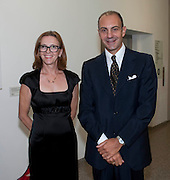 SIGNORA MARAMOTTI; DR. LUIGI MARAMOTTI; Hannah RickardÕs exhibition; No, there was no red.9. MaxMara Prize for Women, in collaboration with the Whitehachapel Gallery. Whitechapel. London.  September 2009.<br /> SIGNORA MARAMOTTI; DR. LUIGI MARAMOTTI; Hannah Rickard?s exhibition; No, there was no red.9. MaxMara Prize for Women, in collaboration with the Whitehachapel Gallery. Whitechapel. London.  September 2009.