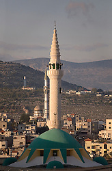 Several mosques can be seen in Sakhnin, Israel, Jan. 30, 2006. Sakhnin is the home town of Israeli soccer star Abbas Suan. An Israeli-Arab, Suan still faces criticism and racism resulting from the unsettled conflict between the Israelis and Palestinians.