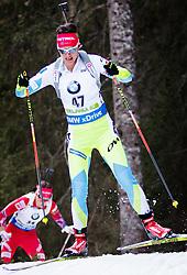 Teja Gregorin (SLO) competes during Women 10 km Pursuit at day 3 of IBU Biathlon World Cup 2015/16 Pokljuka, on December 19, 2015 in Rudno polje, Pokljuka, Slovenia. Photo by Ziga Zupan / Sportida