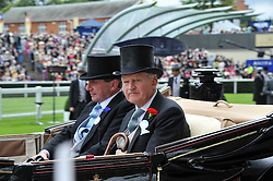 Left to right, the EARL OF DALHOUSIE and the DUKE OF ABERCORN at day 2 of the 2011 Royal Ascot Racing festival at Ascot Racecourse, Ascot, Berkshire on 15th June 2011.
