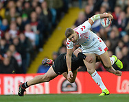 Tommy Makinson of England in action during the Autumn International Series match at Elland Road, Leeds<br /> Picture by Richard Land/Focus Images Ltd +44 7713 507003<br /> 11/11/2018