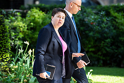 © Licensed to London News Pictures. 22/05/2018. London, UK. Ruth Davidson (L) on Downing Street. Photo credit: Rob Pinney/LNP