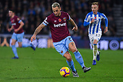 Marko Arnautovic of West Ham United (7) in action during the Premier League match between Huddersfield Town and West Ham United at the John Smiths Stadium, Huddersfield, England on 10 November 2018.