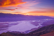 Sunset over Death Valley from Dante's View, Death Valley National Park. California