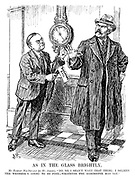 """As In The Glass Brightly. Mr Ramsay Macdonald (to Mr Amery). """"No, no, I shan't want that thing; I believe the weather's going to be fine - whatever the barometer may say."""""""