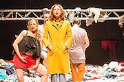 07/04/2014. The critically acclaimed contemporary ensemble les ballets C de la B returns to Sadler's Wells with the UK premiere of Alain Platel's latest creation tauberbach on Tuesday 8 & Wednesday 9 April 2014. Picture features Lisi Estaras & Elsie de Brauw.