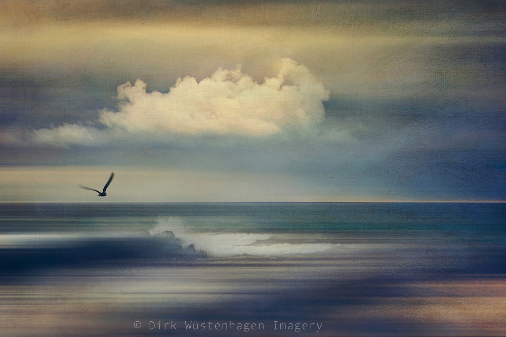 abstract seascape in evening light - textured and manipulated photograph<br /> Prints: https://society6.com/product/another-time-and-place-gaq_print#1=45<br /> REDBUBBLE prints: http://www.redbubble.com/people/dyrkwyst/works/21994037-another-time-and-place