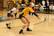 October 28, 2017 - Johnson City, Tennessee - Brooks Gym: ETSU libero Marija Popovic (9), ETSU outside hitter Rylee Milhorn (15)<br /> <br /> Image Credit: Dakota Hamilton/ETSU
