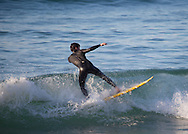 Surfer in Hendaye, Pirenees Atlantiques, Aquitaine, France