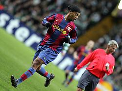 Ronaldinho of Barcelona. Celtic v Barcelona, Uefa Champions League, Knockout phase, Celtic Park, Glasgow, Scotland. 20th February 2008.