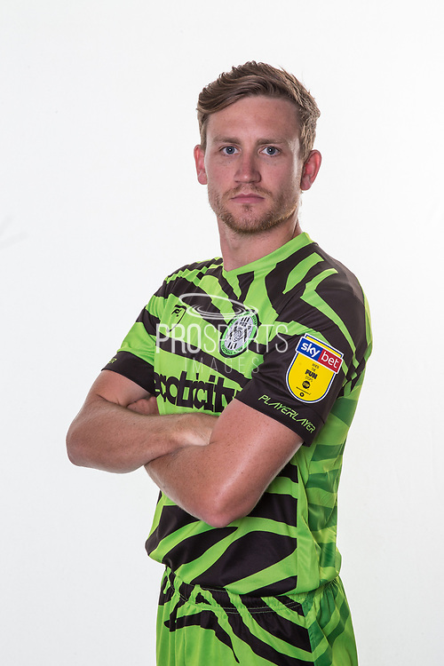 Forest Green Rovers Dayle Grubb(8) during the official team photocall for Forest Green Rovers at the New Lawn, Forest Green, United Kingdom on 29 July 2019.