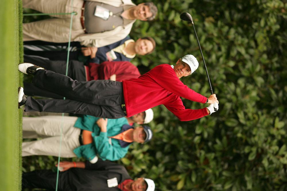 Larry Mize..2005 Masters Tournament.First Round.Augusta National GC.Augusta GA.Thursday, April 7 2005..photograph by Darren Carroll..04-07-05...