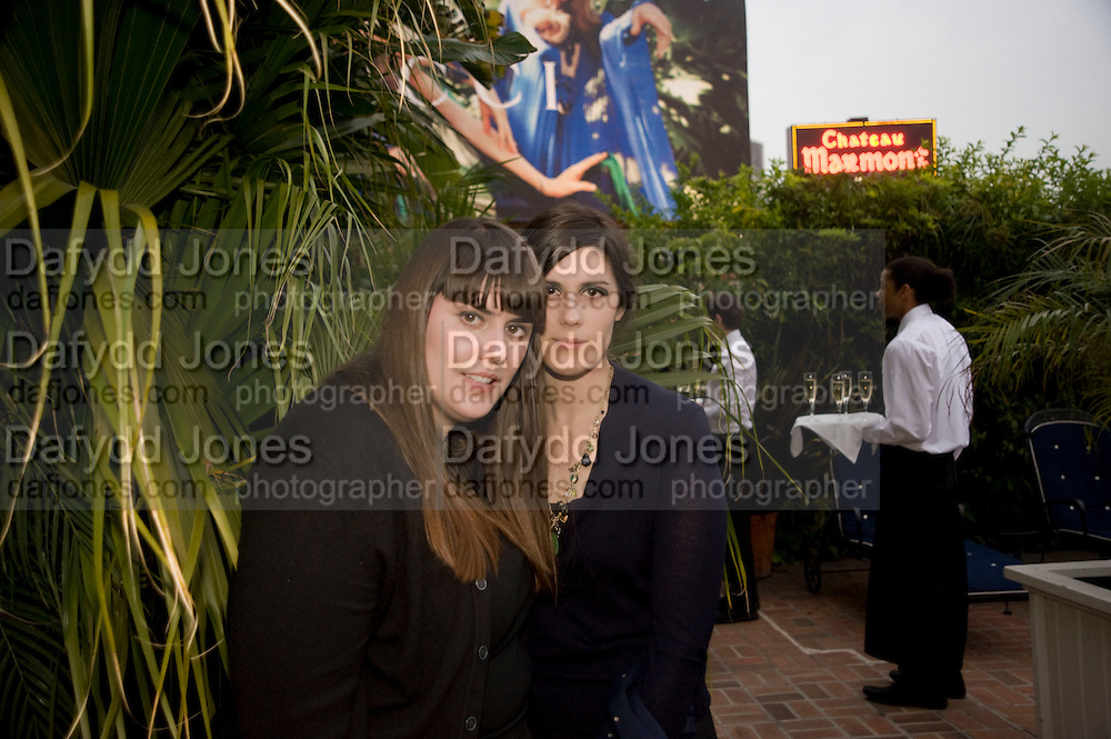 KATE MULEAVY; LAURA MULEAVY, Rodarte Poolside party to show their latest collection. Hosted by Kate and Laura Muleavy, Alex de Betak and Katherine Ross.  Chateau Marmont. West  Sunset  Boulevard. Los Angeles. 21 February 2009 *** Local Caption *** -DO NOT ARCHIVE -Copyright Photograph by Dafydd Jones. 248 Clapham Rd. London SW9 0PZ. Tel 0207 820 0771. www.dafjones.com<br /> KATE MULEAVY; LAURA MULEAVY, Rodarte Poolside party to show their latest collection. Hosted by Kate and Laura Muleavy, Alex de Betak and Katherine Ross.  Chateau Marmont. West  Sunset  Boulevard. Los Angeles. 21 February 2009
