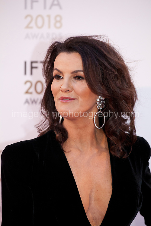 Deirdre O'Kane, host  at the IFTA Film & Drama Awards (The Irish Film & Television Academy) at the Mansion House in Dublin, Ireland, Thursday 15th February 2018. Photographer: Doreen Kennedy