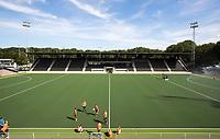 AMSTELVEEN ; Nieuwe veld , de nieuwe  tribune van het Wagener Stadion  bijna klaar voor het Europees Kampioenschap. COPYRIGHT KOEN SUYK