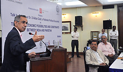 "June 10, 2017 - Kolkata, West Bengal, India - Speech of professor S Akbar Zaidi, Pakistani Political Economist on ""Trade and Economic Possibilities and Constraints between India & Pakistan"" organized by The Bengal Chamber of Commerce and Industry in Kolkata on June 10, 2017. (Credit Image: © Saikat Paul/Pacific Press via ZUMA Wire)"