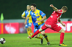 19.04.2011, Hohe Warte, Wien, AUT, Oefb-Samsung-Cup, First Vienna FC 1894 vs SV Kapfenberg, im Bild Rade Djokic, (First Vienna FC 1894, #11) ueberspielt Milan Fukal, (SV Kapfenberg, #5) ,  EXPA Pictures © 2011, PhotoCredit: EXPA/ T. Haumer