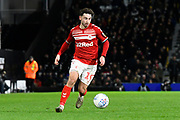 Patrick Roberts (19) of Middlesbrough during the EFL Sky Bet Championship match between Fulham and Middlesbrough at Craven Cottage, London, England on 17 January 2020.