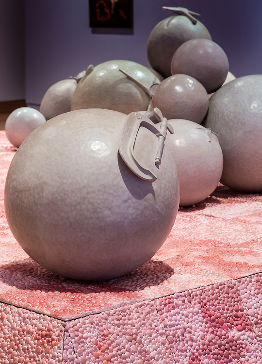 Lisa Gralnick, Madison, Wisconsin, USA. The Nightmare of Enduring Bliss, 2013. Ceramic with terra sigilata and goldleaf.