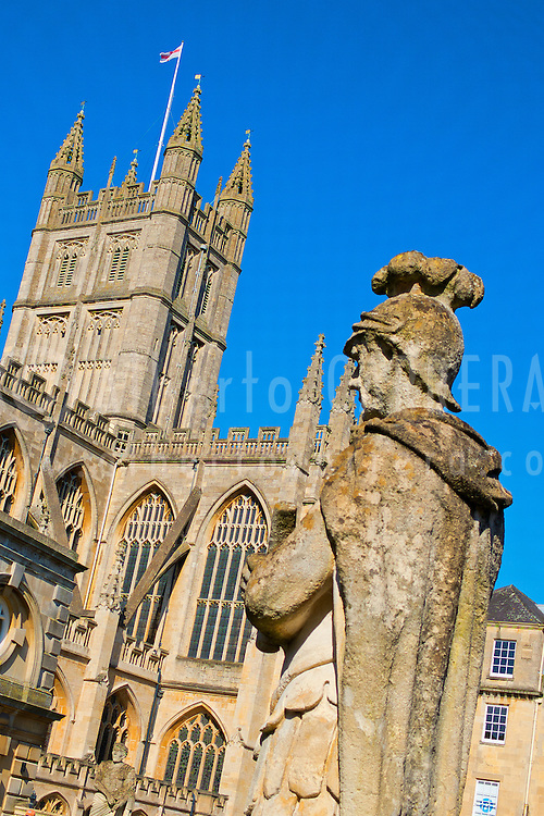 Alberto Carrera, Roman Baths and Bath Abbey, Bath, World Heritage Site, Somerset, England, Great Britain, Europe