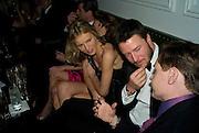 Eva Herzigova and Gregor Massiaj, Weinstein Bafta after-party in association with Chopard. Bungalow 8. London. 10  February 2008.  *** Local Caption *** -DO NOT ARCHIVE-© Copyright Photograph by Dafydd Jones. 248 Clapham Rd. London SW9 0PZ. Tel 0207 820 0771. www.dafjones.com.