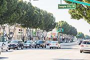 Temple City Blvd and Las Tunas Street Scene