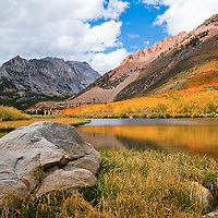 One of the most picturesque lakes in the Sierra is North Fall. What makes the North Lake unique are the colorful aspens that surround the lake. If you can time to just right the fall colors are spectacular.