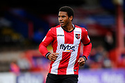 Reuben Reid (33) of Exeter City during the EFL Sky Bet League 2 match between Exeter City and Lincoln City at St James' Park, Exeter, England on 19 August 2017. Photo by Graham Hunt.