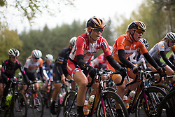 Amalie Dideriksen (DEN) of Boels-Dolmans Cycling Team hides in the peloton in the first half of the first, 106.9km road race stage of Elsy Jacobs - a stage race in Luxembourg, in Steinfort on April 30, 2016